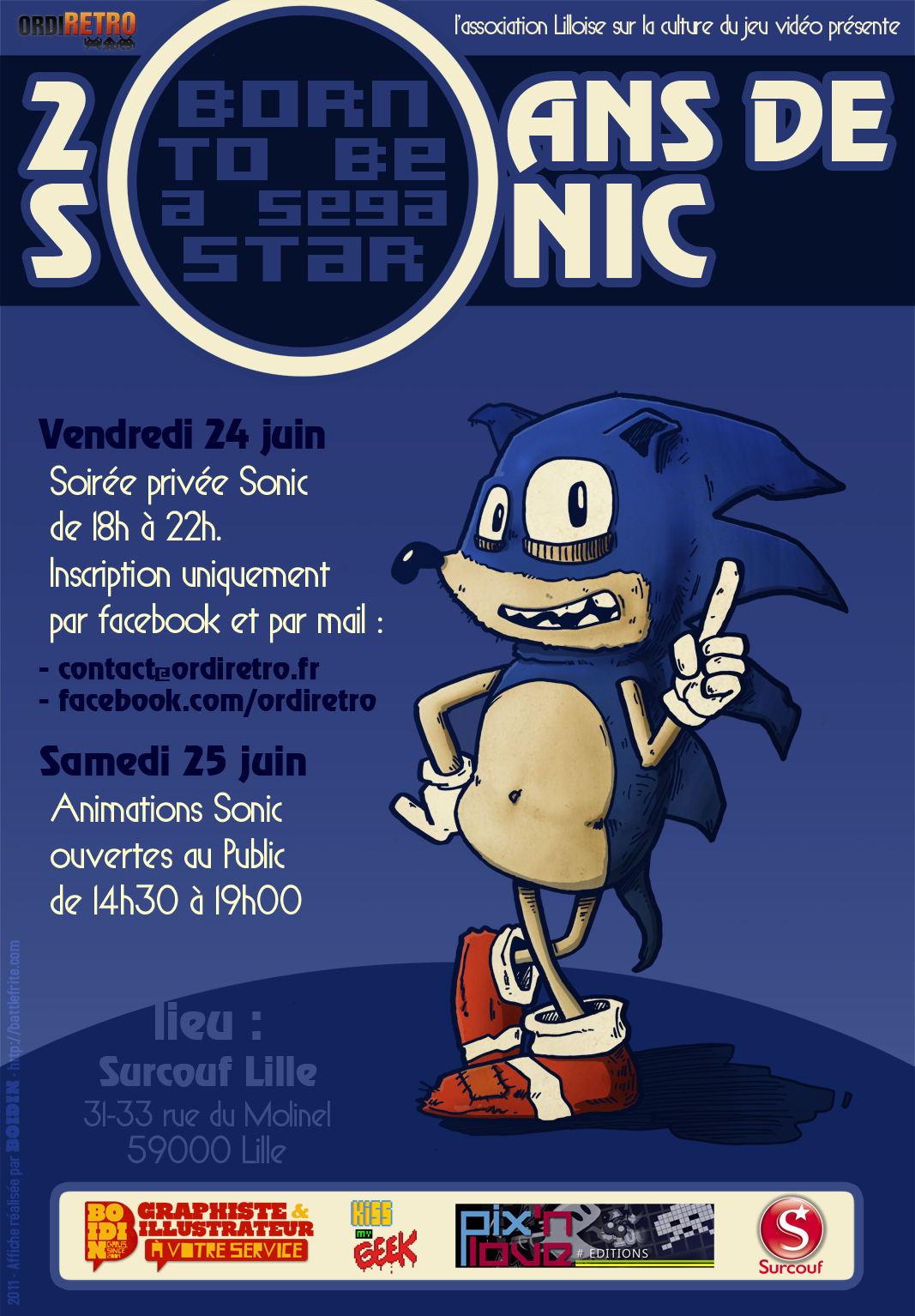 sonic f te ses 20 ans lille ce weekend. Black Bedroom Furniture Sets. Home Design Ideas