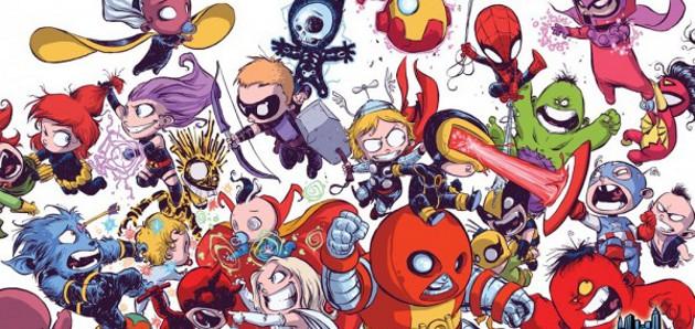 les hros marvel version bb - Dessin Marvel