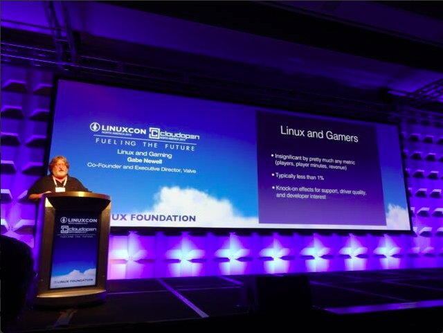 Gabe Newell Linuxcon