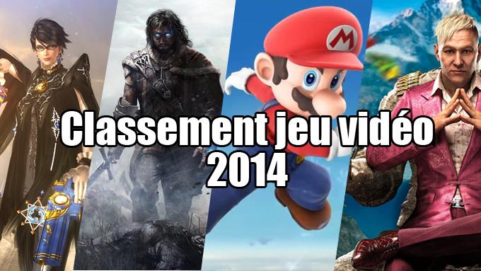 classement jeu video 2014