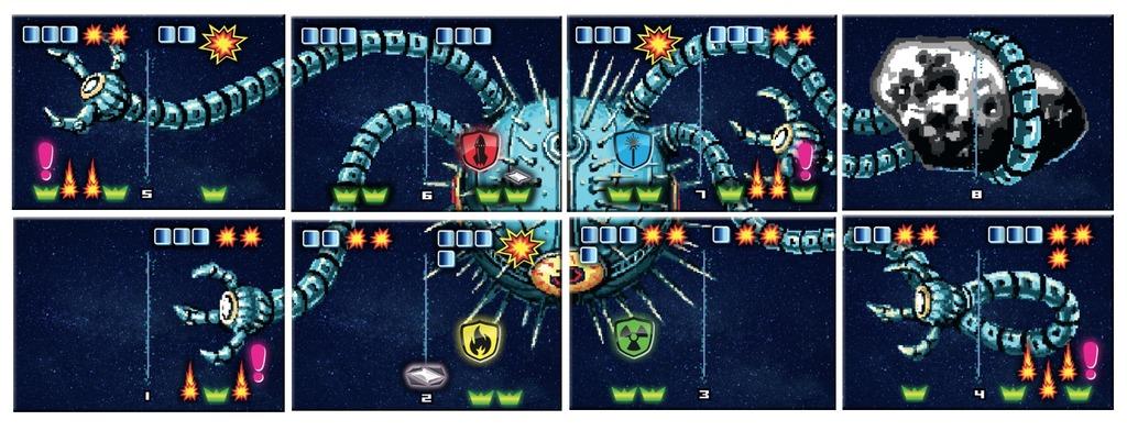 Un exemple de boss. Leur gigantisme rappelle bien les parties d'arcade !