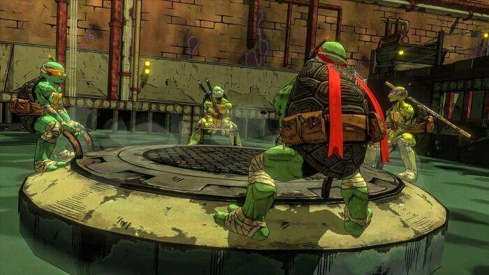 Il faudra que les 4 tortues coopèrent pour venir à bout des plus terribles dangers comme... Cette grosse plaque d'égouts.