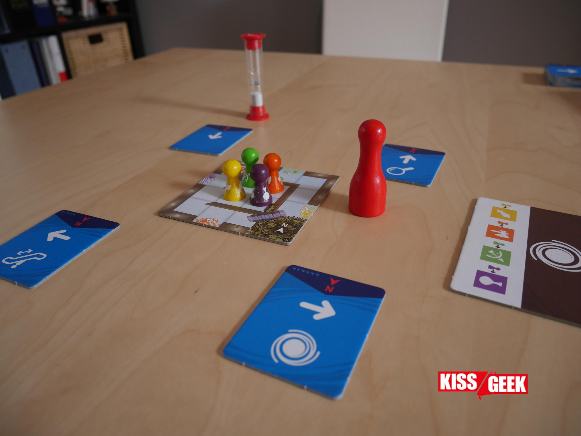 Le jeu est en place pour une partie à 4. A vos marques... Prêts... Partez !