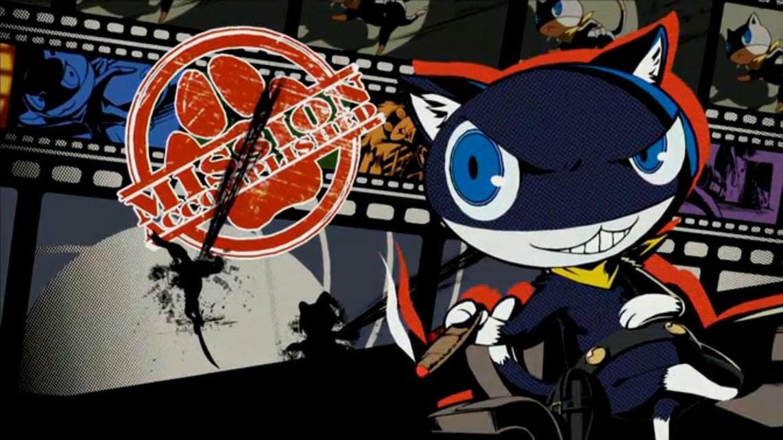 """Même le chat """"kawaii"""" Morgana est badass. Ici, il tape la pose après une attaque all-out réussie !"""