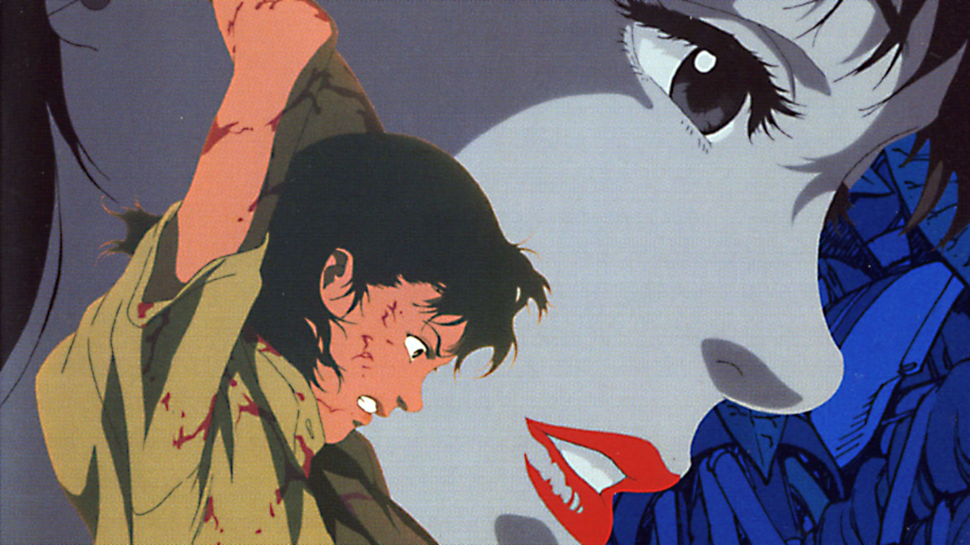 Cette affiche de Perfect Blue donne plus l'image d'un thriller que l'originale.