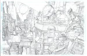 Gotham fourmille de détails sous le crayon de David Finch