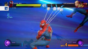 Spidey est sur le point d efaire passer un très mauvais moment à son adversaire avec cet hyper combo de niveau 3