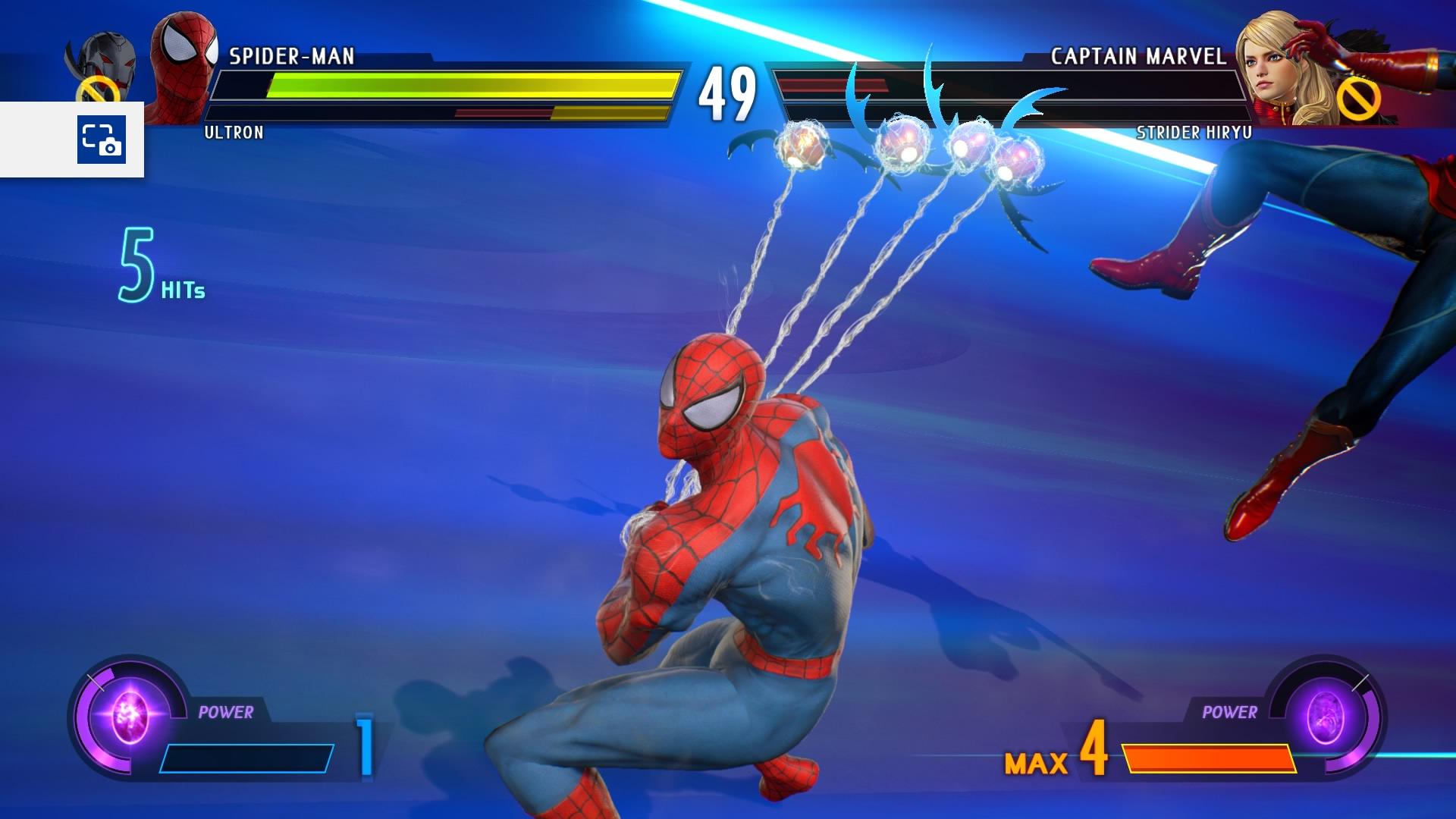 Spidey est sur le point de faire passer un très mauvais moment à son adversaire avec cet hyper combo de niveau 3