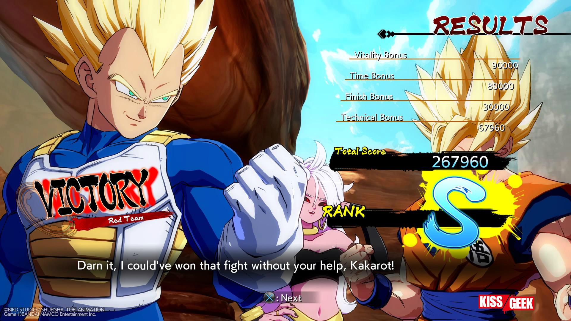 Bon ben c'est pas encore aujourd'hiu que Vegeta va arrêter de chercher Son Goku !