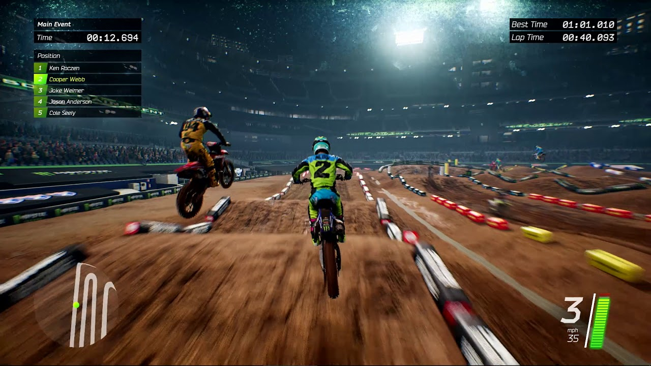 monster energy supercross test