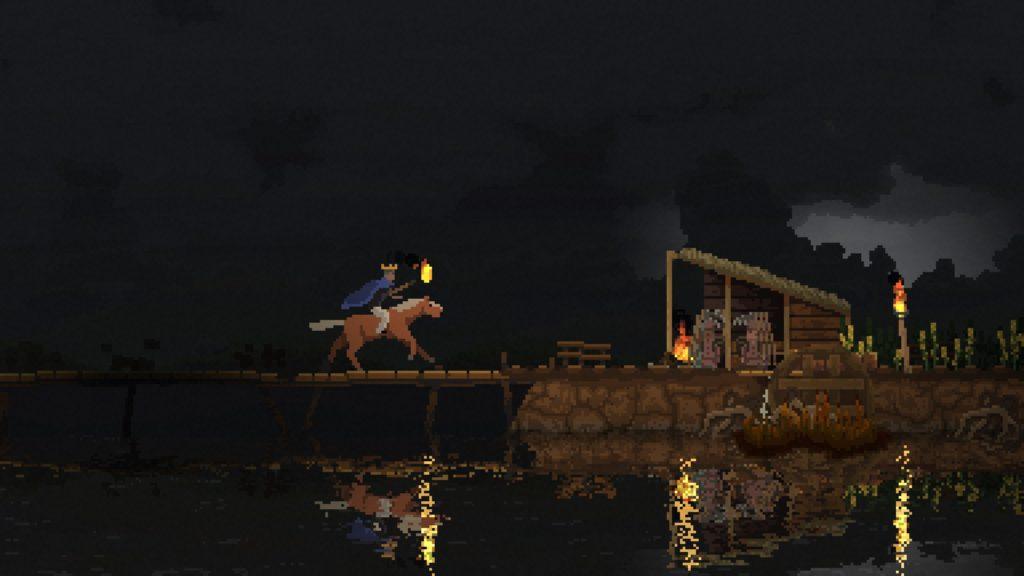 Le pixel-art de Kingdom est toujours aussi agréable à l'œil. Non mais regardez moi ces reflets sur l'eau.