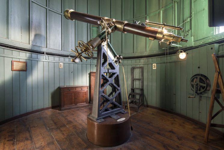 La lunette utilisée par Schiaparelli pour observer Mars à l'Observatoire de Brera, Milan.