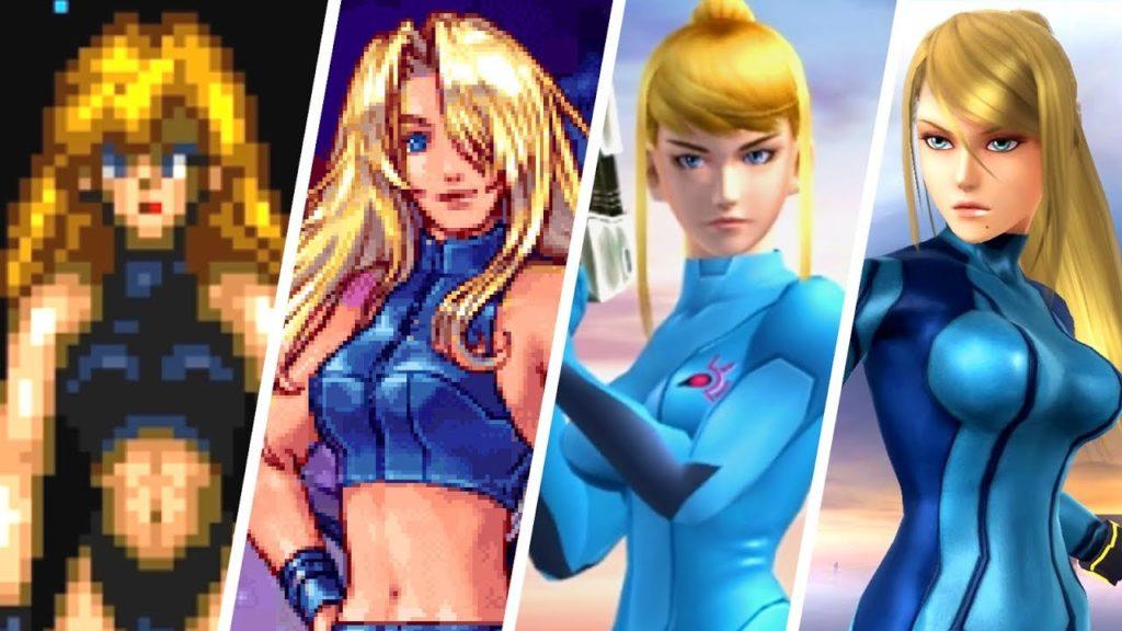 Evolution de Samus Aran (Metroid) entre 1994 et 2014.