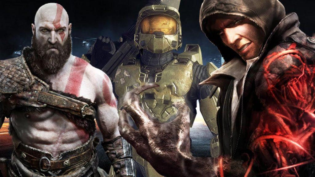 Les personnages masculins dans le jeu vidéo ont souvent une musculature exagérée, mais sans sexualisation de leurs attributs.
