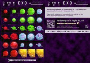 Exemple de plaquette de jeu avec celle d'Exo