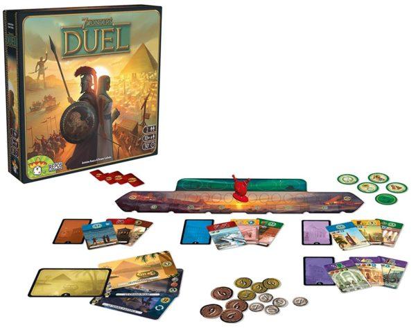 Boîte et plateau de 7 Wonders Duel