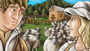 Illustration d'Agicola les fermiers de la lande, la big box 2 joueurs
