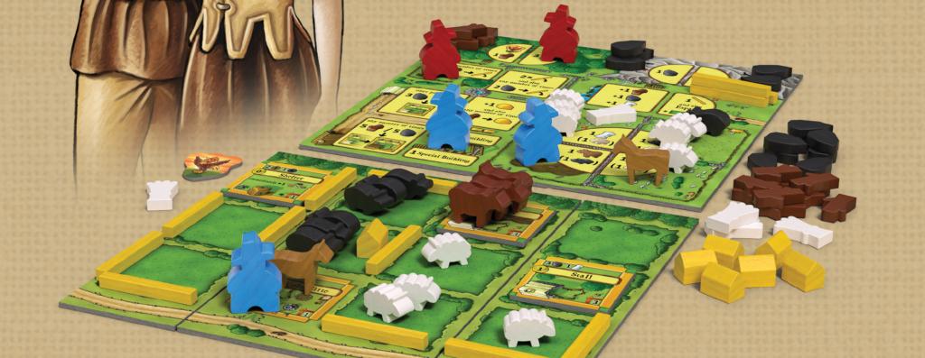 Un exemple de partie d'Agricola, les fermiers de la lande, la big box 2 joueurs