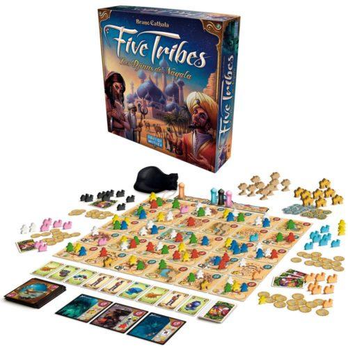Boîte et plateau de Five Tribes