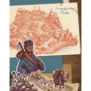 Illustration de Trek 12+1 Carnet de Voyage en Himalaya